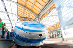 Pendolino left side wroclaw poland first time Royalty Free Stock Photography