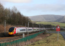 Pendolino train in Cumbria Royalty Free Stock Photo