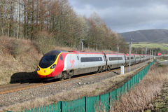 Pendolino train in Cumbria Royalty Free Stock Photography