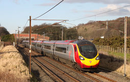 Pendolino train on the West Coast Mainline Stock Image
