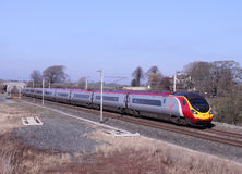 Pendolino train on West Coast Mainline. Stock Photos