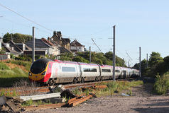Pendolino train West Coast Mainline at Hest Bank Stock Photos