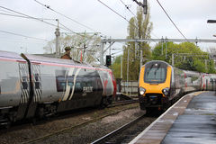 Pendolino and Voyager trains at Wolverhampton Royalty Free Stock Images