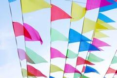 Pendones coloridos imagenes de archivo