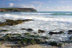 Pendower Beach Stock Photo