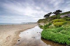 Pendower Beach in Cornwall Stock Photo