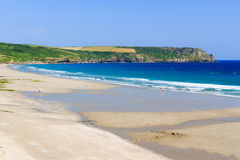 Pendower strand Cornwall England Royaltyfri Fotografi