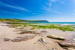 Pendower strand Cornwall England Arkivfoto