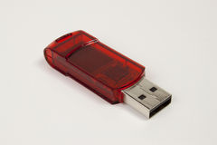 Pendrive. Red pendrive to the computer Stock Image