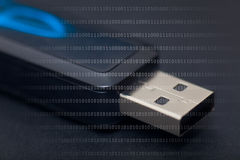 Pendrive. Detail of pendrive in black background Stock Images
