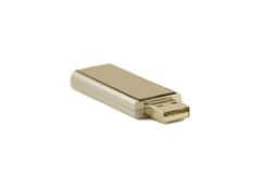 Pendrive. Silver usb storage device - pendrive Royalty Free Stock Photography