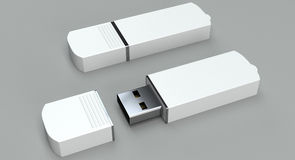 Pendrive mockup on bright background Royalty Free Stock Image