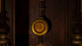 Pendule d'horloge de vintage banque de vidéos