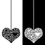 Pendule de coeur d'isolement Photo stock