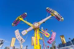 Pendulum amusement ride in Royal Melbourne Show Stock Image