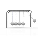 Pendulum. Ball move against the others Royalty Free Stock Photos