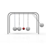 Pendulum. Ball move against the others Stock Image