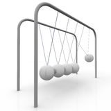 Pendulum. Ball move against the others Stock Images