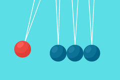 Pendulum balls flat vector Stock Image