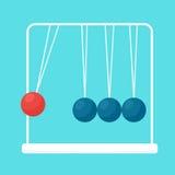 Pendulum balls flat vector Royalty Free Stock Images