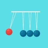 Pendulum balls flat vector Stock Photos