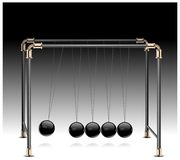 Pendulum on black Royalty Free Stock Images