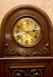 Pendulum clock. 2 a clock. It is 2 o`clock and 38 minutes. Stock Images
