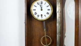 Pendulum clock stock video footage