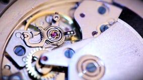 Pendulum clocks close up stock footage