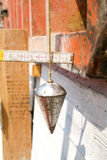 Pendulum for construction Royalty Free Stock Images