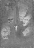Pendulum in the dark Royalty Free Stock Image