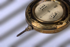 The pendulum (detail). Of age-old mechanical clock stock images