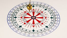 Pendulum for divination. Astrologer use pendulum for tarot and a astrological circle for divination stock footage