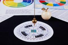 Pendulum for divination stock image