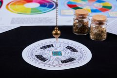 Pendulum for divination royalty free stock photography