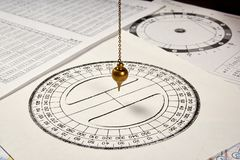 Pendulum for divination royalty free stock image