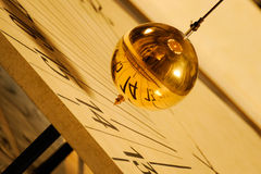 Pendulum of Foucault stock image