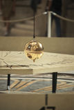 Pendulum of Foucault in Pantheon of Paris Royalty Free Stock Photo