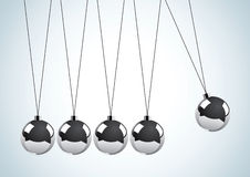Pendulum with metal balls Stock Images