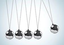 Pendulum with metal balls Stock Images