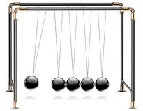 Pendulum on white Royalty Free Stock Photo