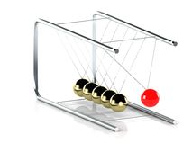 Pendulum on white background Royalty Free Stock Photo