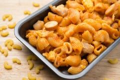 Pene pasta in tomato souce Royalty Free Stock Photography