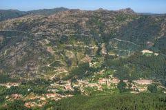 Peneda Geres国家公园风景看法  免版税库存图片