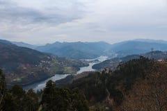 Peneda-Geres berg och floder portugal arkivbild