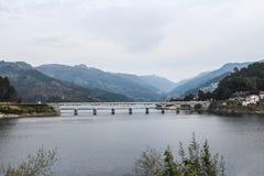 Peneda-Geres broar Landskap av Portugal fotografering för bildbyråer