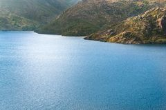 Peneda Geres Mountain lake. Sunny day blue water Portugal royalty free stock photos