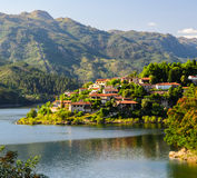 Peneda-Geres National Park. Scenic view of Cavado river and Peneda-Geres National Park in northern Portugal royalty free stock photography