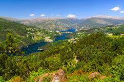 Peneda-Geres National Park. Scenic view of Cavado river and Peneda-Geres National Park in northern Portugal stock images