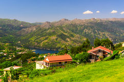 Peneda-Geres National Park. Scenic view of Cavado river and Peneda-Geres National Park in northern Portugal royalty free stock photos